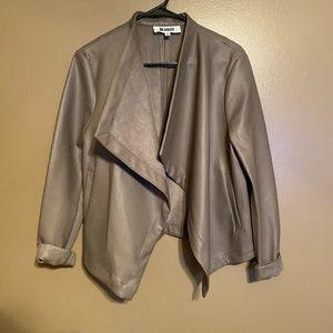 BB DAKOTA Taupe Faux Leather Cardigan Size Large